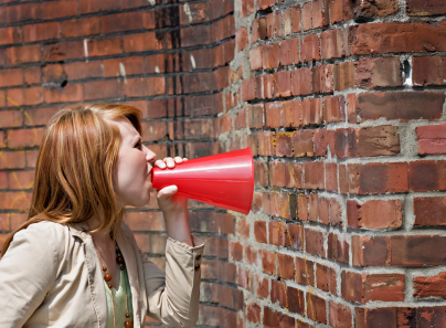 Shouting at a wall